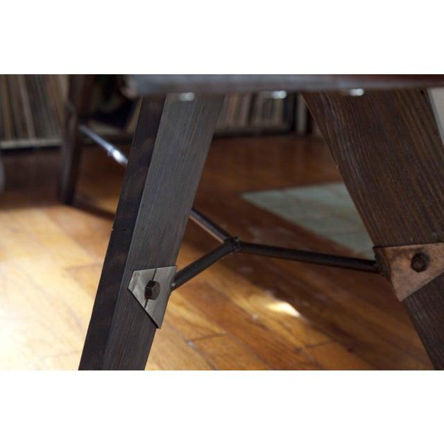 Mid-Century Reclaimed Wood Surfboard Coffee Table - Image 8 of 11