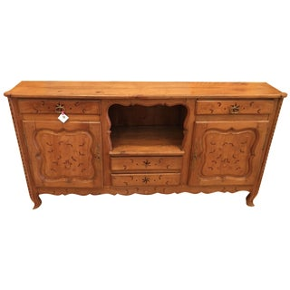 Antique French Country Inlaid Fruitwood Buffet