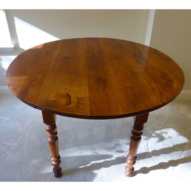 Antique French Walnut Drop Leaf Table - Image 2 of 7