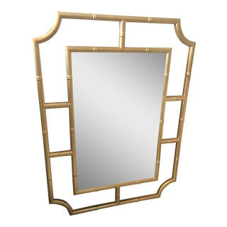 Gold Leaf Bamboo Frame Mirror