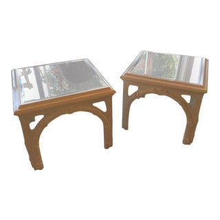 Vintage Lacquer Serge Roche Style End Tables - A Pair