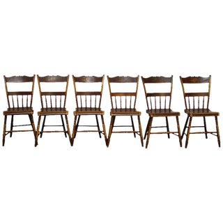 Pennsylvania Painted Hitchcock Dining Chairs - Set of 6