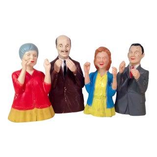 1968 Childcraft Teaching Hand Puppets - Set of 4