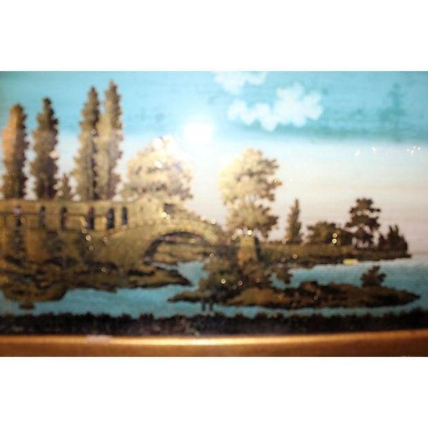 Image of 19th C. Empire Églomisé Reverse Painted Mirror