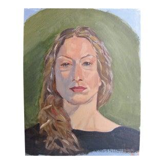 Vintage Oil Portrait Painting of a Woman