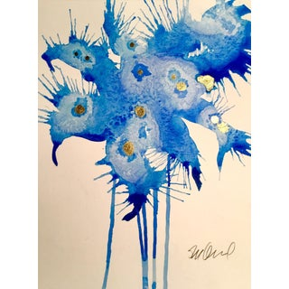 """Botanical Cobalt"" Original Watercolor Painting"