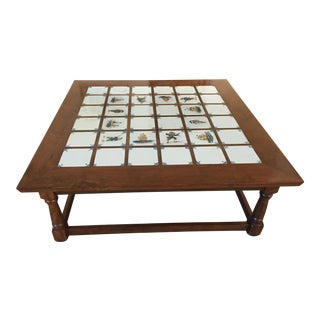 Coffee Table With Inlaid Delft Tiles