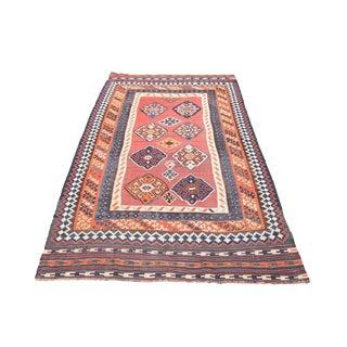 Vintage Persian Gashgai Kilim Flatweave Rug - 5′3″ × 9′1″