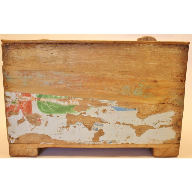 Folk Art Recycled Wood Magazine Rack - Image 4 of 5