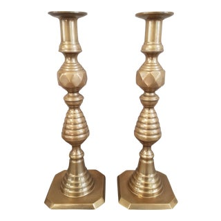 Vintage Brass Candle Holder, A Pair