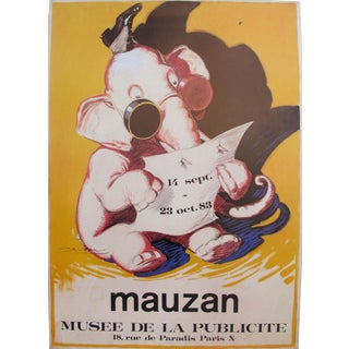 1983 French Mauzan Exhibition Poster, Elephant
