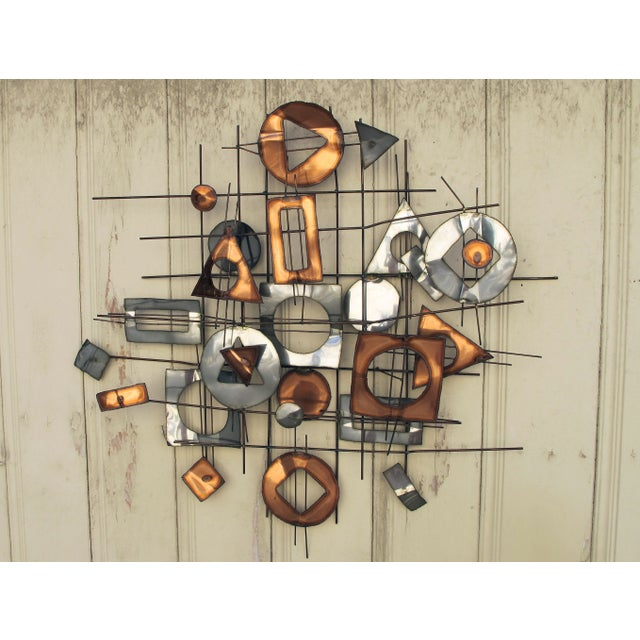 1960s C. Jere Metal Wall Sculpture - Image 2 of 5