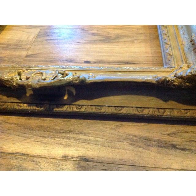 Antique Wood Hollywood Regency Large Frame Victorian - Image 4 of 11