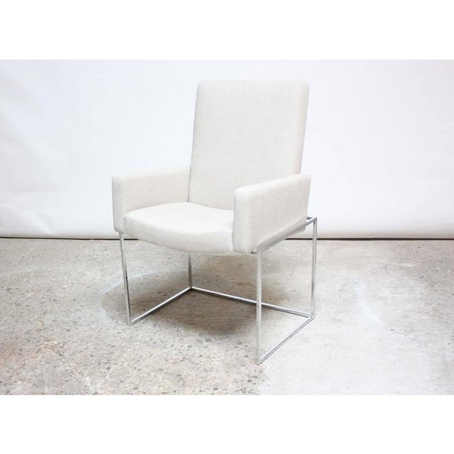 Set of Six Milo Baughman 'Thin Line' Chrome Dining Chairs - Image 5 of 11