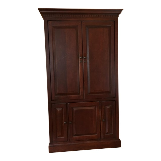 Hooker cherry wood entertainment armoire chairish