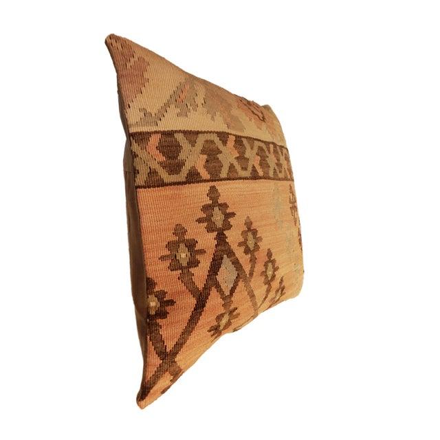 Old Turkish Tribal Kilim Pillow - Image 6 of 7