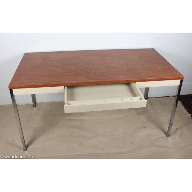 Steelcase Modern Minimalist Writing Desk - Image 5 of 9