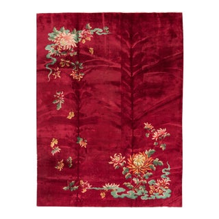 Apadana Red Chinese Art Deco Rug - 8' X 11'5""