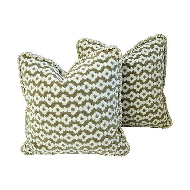 French Manuel Canovas Saint Remy Pillows - A Pair - Image 1 of 6