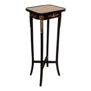 Neoclassical Ebonized Pedestal Table
