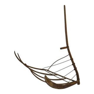Antique Ash Cradle Scythe