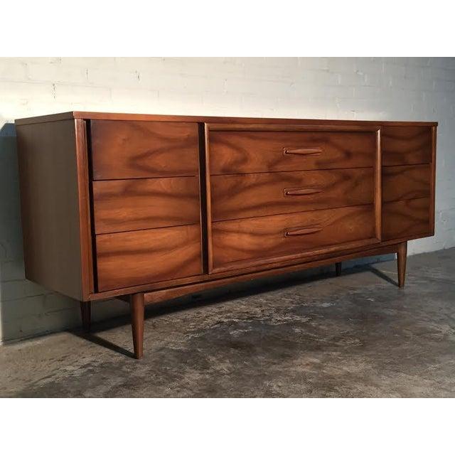 Walnut Mid-Century Danish Modern Dresser - Image 4 of 11