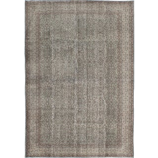"Vintage Turkish Overdyed Rug - 6'11"" x 10'3"""