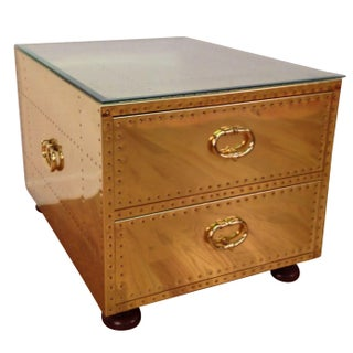 Sarreid Brass Chest of Drawers