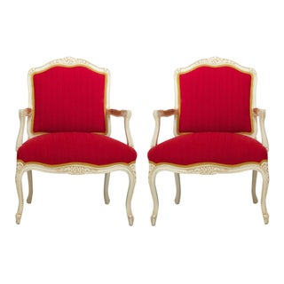 Boho-Chic Antique Louis Armchairs - A Pair