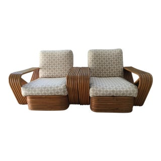 Paul Frankl Six-Band Arm/Lounge Chairs - Pair