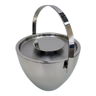 Arne Jacobsen Style Stainless Steel Ice Bucket