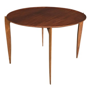 Fritz Hansen Teak Tray Top Side Table