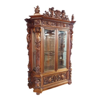 "19th century ""Highly carved"" Italian Renaissance Bookcase bookcase"