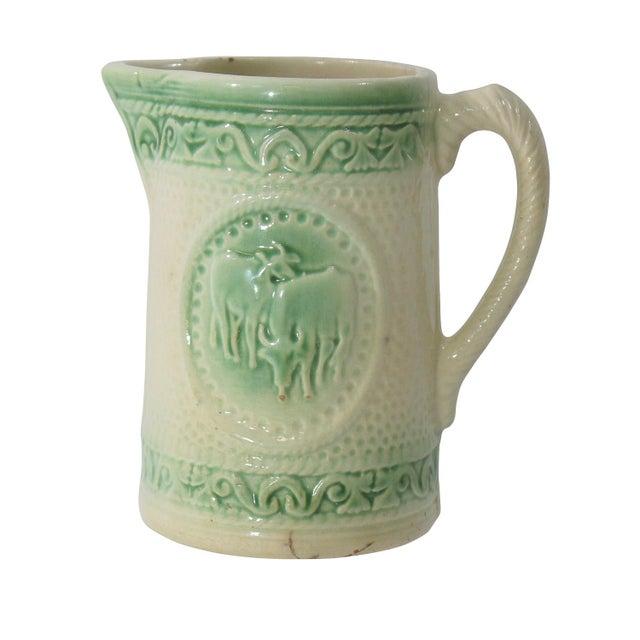 Antique Ceramic Cow Pitcher - Image 3 of 9