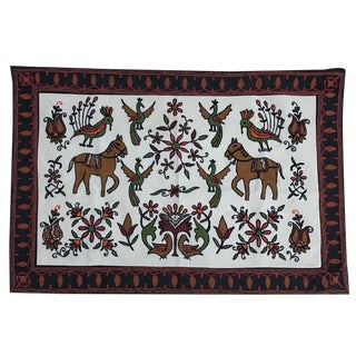 Embroidered Bohemian Tapestry