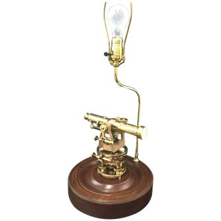 Vintage Brass Sears Transit Table Lamp