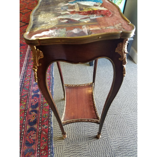 Antique French Enamel Palos Table - Image 4 of 7