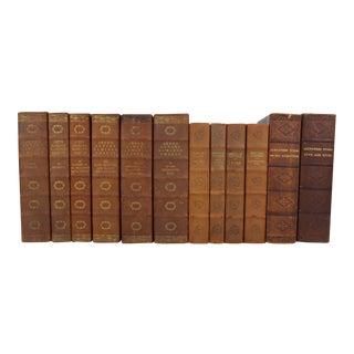 Art Deco Leather-Bound Books - Set of 12