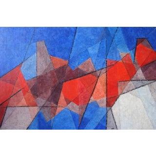 "Hildegarde Haas ""Canyon Patterns"" Painting"