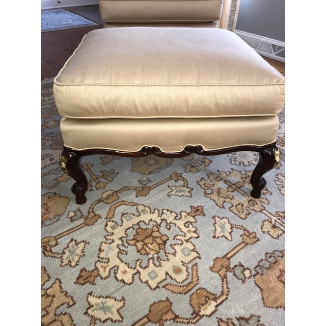 Century Furniture Chair & Ottoman With Floral Pillow - a Pair - Image 7 of 10