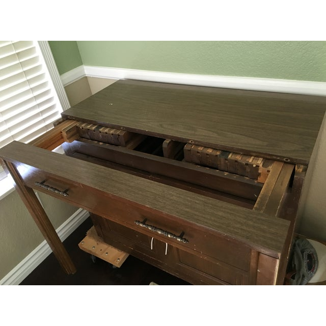 Traditional Expanding Wood Buffet Table - Image 3 of 3