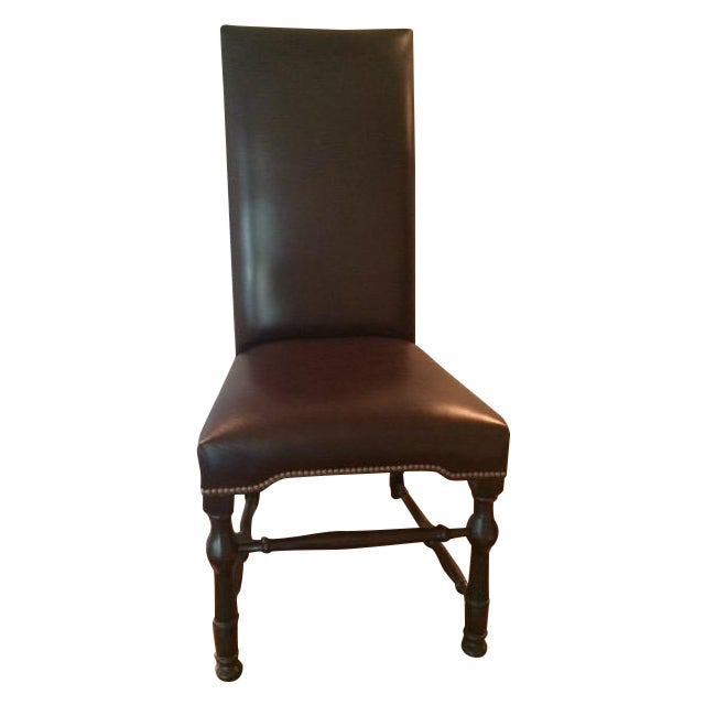 Chocolate Brown Leather High Back Dining Chairs 8 Chairish