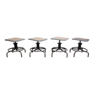 Industrial InterRoyal Drafting Stools - Set of 4