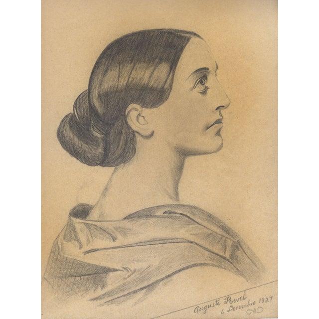 Auguste Revel 1927 Fine Female Portrait - Image 1 of 2