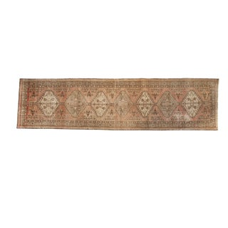 "Vintage Distressed Serab Rug Runner - 3'6"" x 13'5"""
