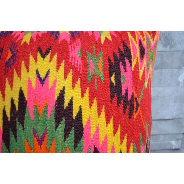 Image of Vintage Turkish Kilim Rug Pillow Covers - A Pair