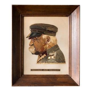 Straw Portrait of Polish Leader