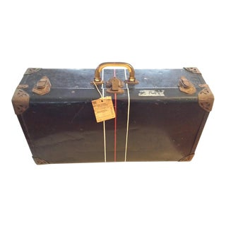 Vintage Navy Metal Suitcase