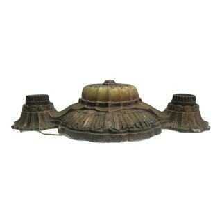 Bronze Two Bulb Flush Mount Light