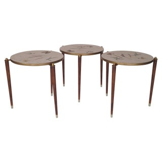 Fornasetti Style Stacking Tables - Set of 3